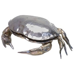 Large Silver Plated Crab Caviar Server