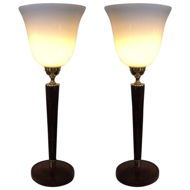 Pair of Art Deco Mazda Unilux Lamps