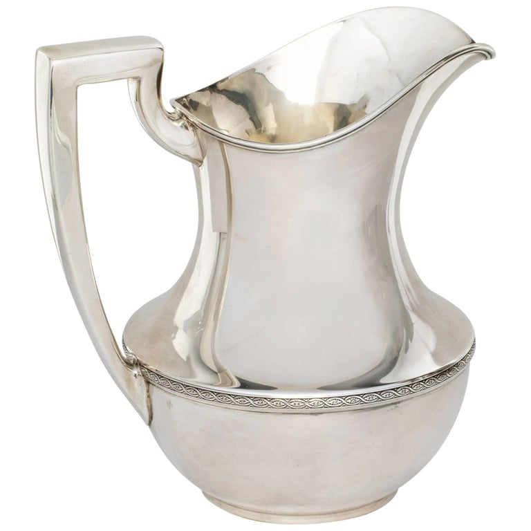 Sterling Silver Water Pitcher, Weidlich