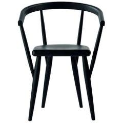 """Lina"" Black Painted Ash Armchair Designed by Patrizia Bertolini for Adele-C"