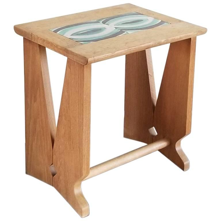 Guillerme & Chambron Side Table, France, 1960s
