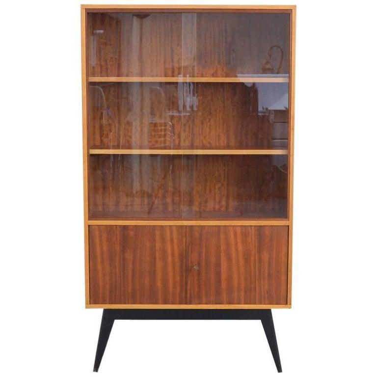 Elegant vitrine cabinet by alfred hendrickx for belform for Sideboard vitrine