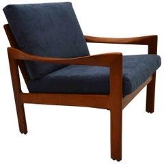 1960s Danish Teak Vintage Armchair by Illum Wikkelso for Niels Eilersen