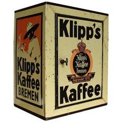 Tin Coffee Box with door for Klipp's Kaffee Bremen, Germany