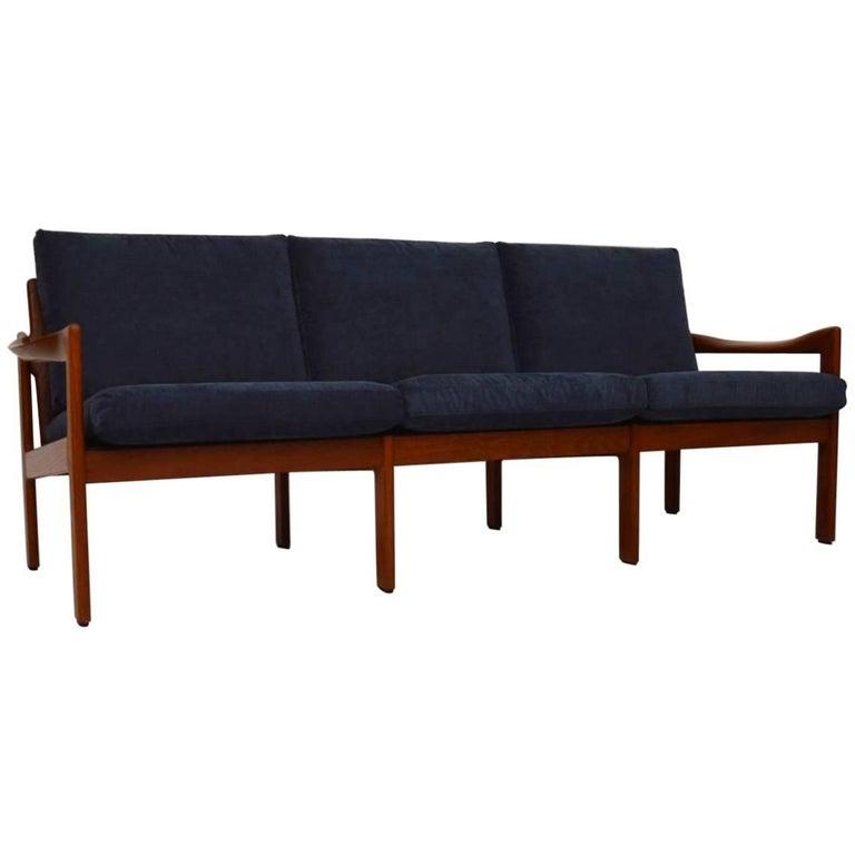 1960s Danish Teak Vintage Sofa by Illum Wikkelsø for Niels Eilersen