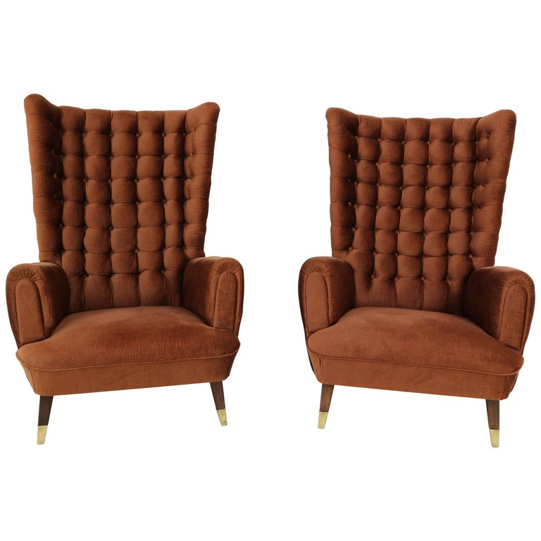 Set of Two Armchairs in the Manner of Paolo Buffa, 1950s