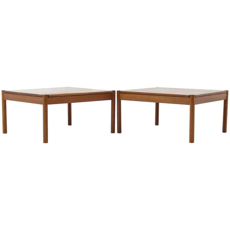 Solid teak coffee table by magnus olesen for durum set of two for sale at 1stdibs Solid teak coffee table