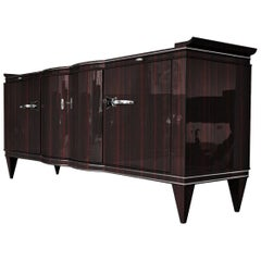 Macassar Sideboard from the Art Deco Era
