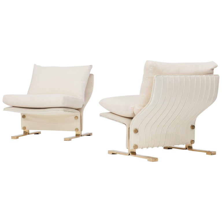 Marzio Cecchi Pair of Lounge chairs Italy, 1960s