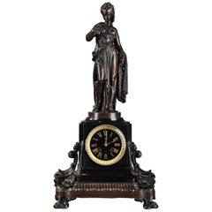 Clock Fisherwoman with Shrimp by Paul Dubois and René Wallerand