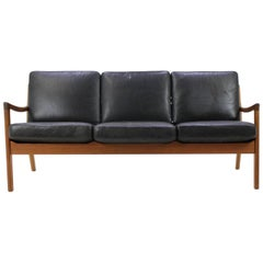 "Ole Wanscher Teak ""Senator"" Sofa by Cado Denmark, Model 166"