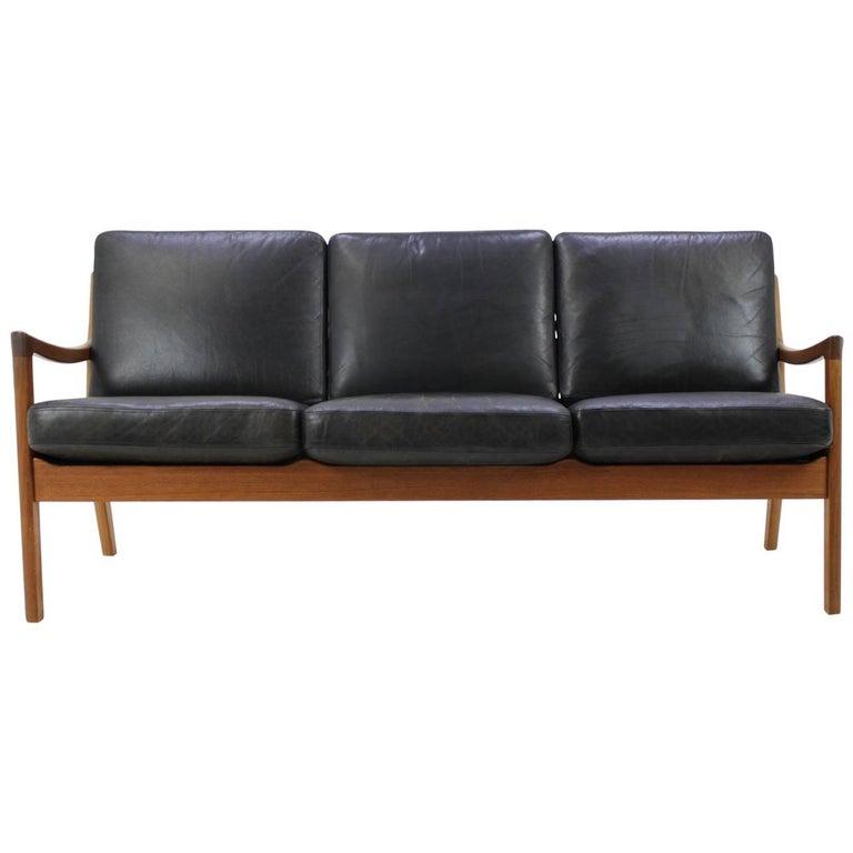 "Ole Wanscher Teak ""Senator"" Sofa by Cado Denmark, Model 166"