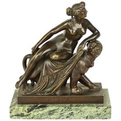 Small Bronze Sculpture of 'Ariadne Riding a Panther' after Dannecker