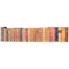 Metre of Early 20th Century Leather Bound Books, Series 25/26