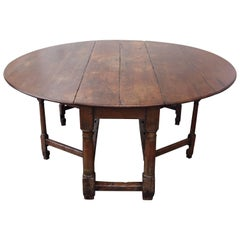 19th Century Antique Drop-Leaf table in Oak