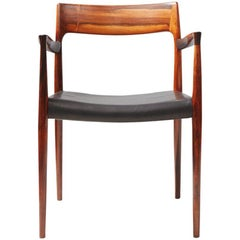 Niels O. Moller Model 57 Brazilian Rosewood Carver Chair