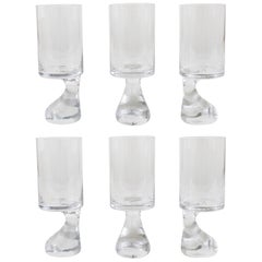 "Six Joe Colombo ""Smoke"" Modernist Drinking Glasses, 1960s by Riedel Austria"