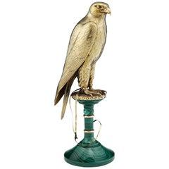Asprey & Co Sterling Silver Falcon Statue