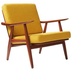 Hans J. Wegner GE-270 Teak Lounge Chair, 1956