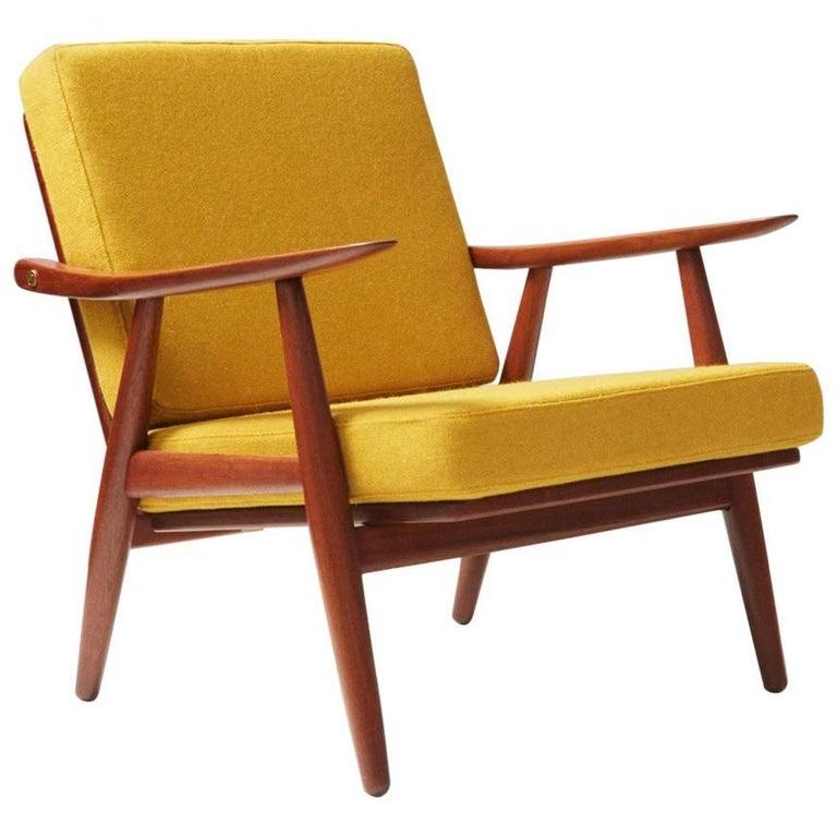 Hans J. Wegner GE-270 Teak Lounge Chair, 1956 For Sale