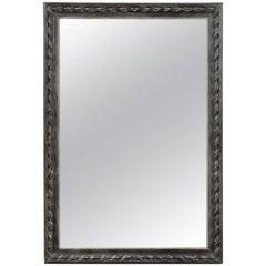 19th Century French Black Mirror, circa 1890