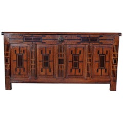 17th Century Dutch Oakwood and Rosewood Chest