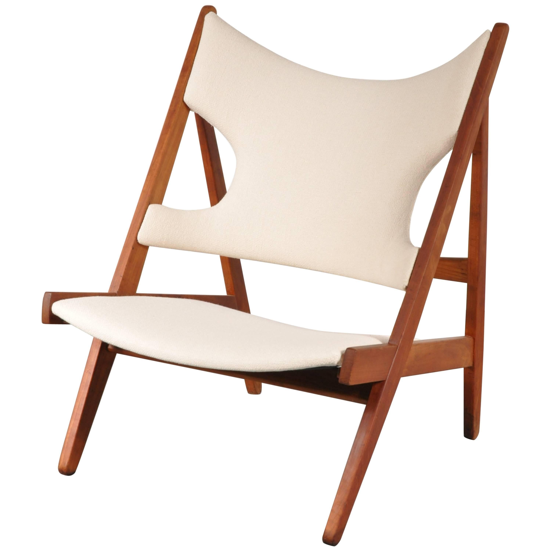Knitting Chair By Ib Kofod Larsen For Christensen U0026amp; Larsen, Denmark 1950