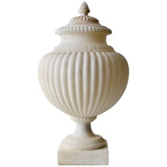 Italian Early 19th Century Alabaster Urn