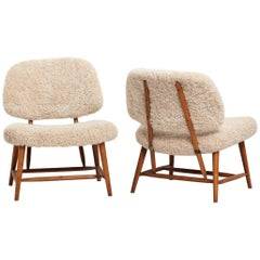 Pair of Easy Chairs Designed by Alf Svensson, 1953