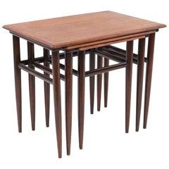 Midcentury Danish Rosewood Nesting Tables