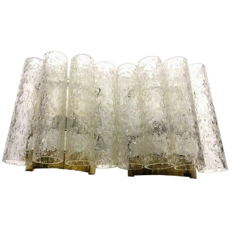 Doria Leuchten Glass Tube Pair of Sconces, 1960s