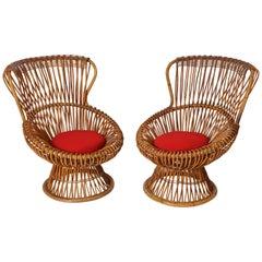 Pair of Franco Albini 'Margherita' Chairs