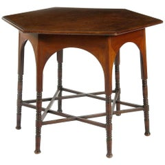 Liberty & Co. Mahogany Hexagonal Centre Table with a Star Shaped Stretcher