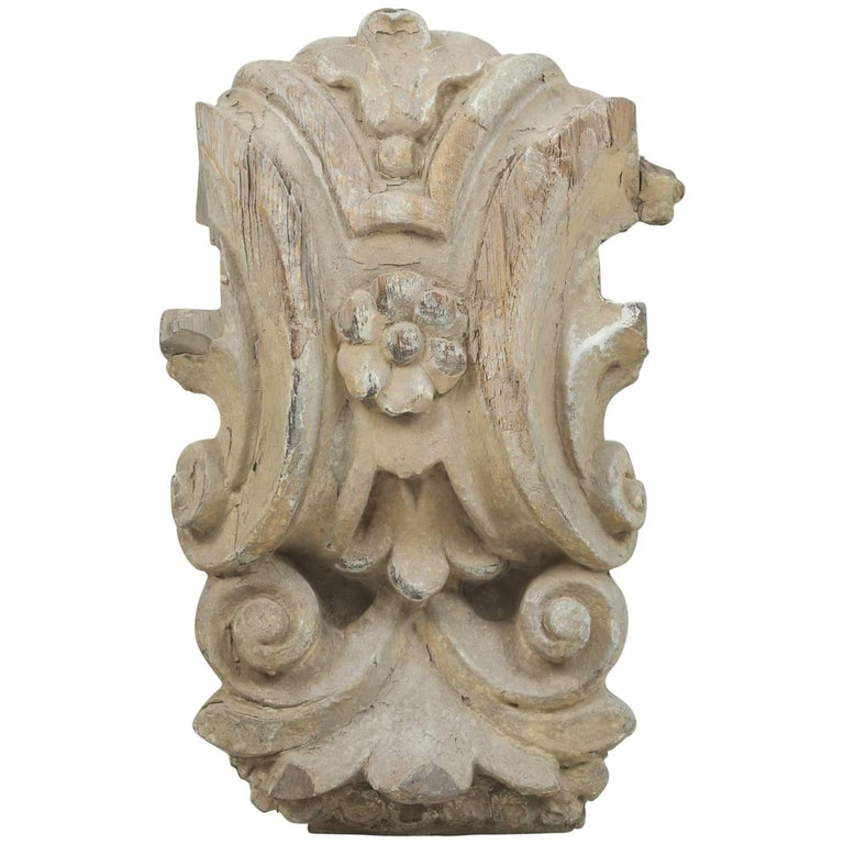 Antique Italian Carved Decorative Architectural Element or Fragment