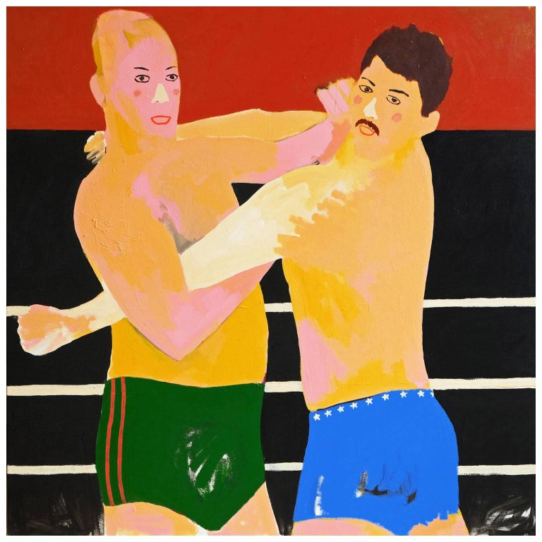'Daddy Issues' Portrait Painting by Alan Fears Pop Art Wrestling