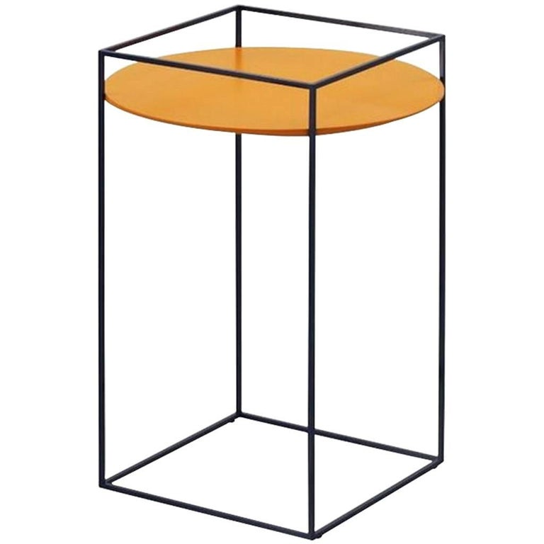 """TT"" Side Table with One Round Tray Designed by Ron Gilad for Adele-C"