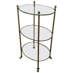 1940's French Tiered Brass Table