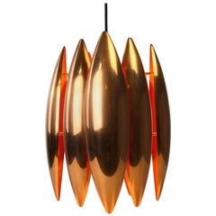 Copper Ceiling Pendant by Jo Hammerborg for Fog Morup, Denmark