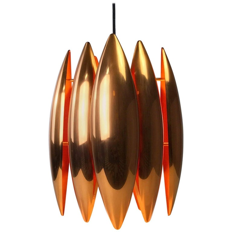 Copper Ceiling Pendant by Jo Hammerborg for Fog Morup, Denmark