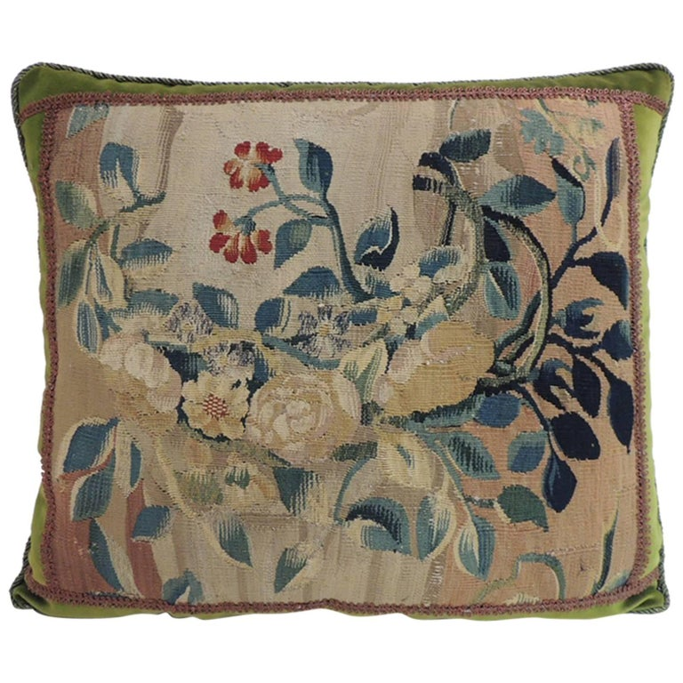 18th Century Aubusson Tapestry Square Decorative Pillow At 1stdibs