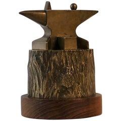 Bronze Sculpture of Anvil