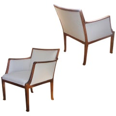 Fine and Uncommon Pair of Armchairs in Mahogany by Frits Henningsen