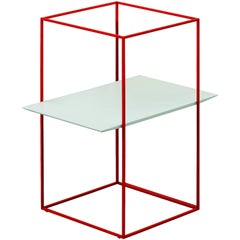 """TT"" Side Table with One Rectangular Tray Designed by Ron Gilad for Adele-C"