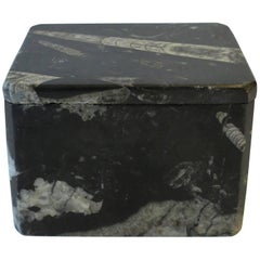 Modern Black and White Stone Jewelry Box