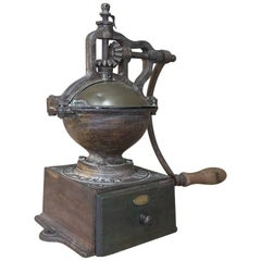 19th Century Commercial Steel Coffee Mill