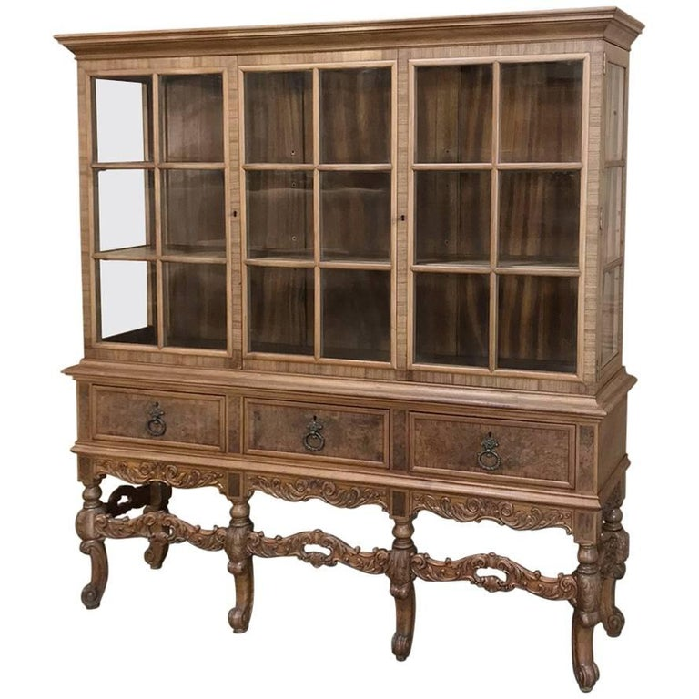 Dutch Renaissance Vitrine Bookcase