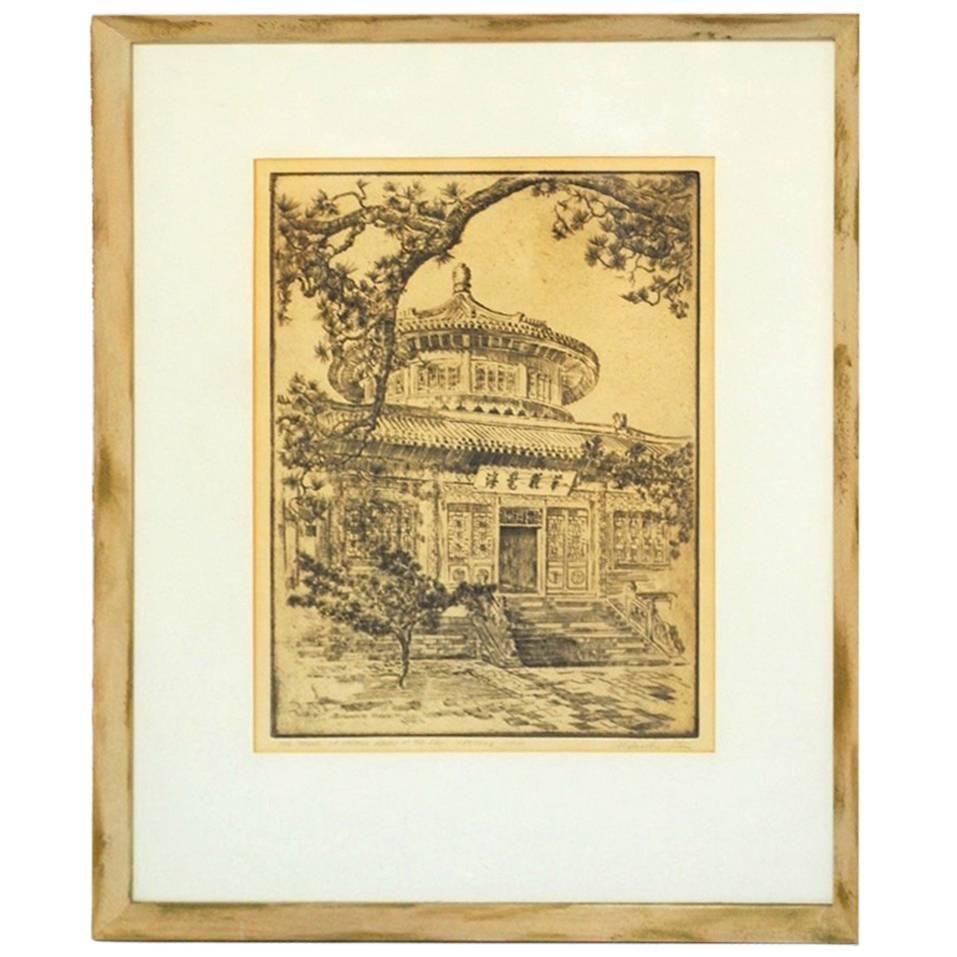 Alexander Stern Etching Peking, China, 1932
