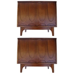 "Pair of ""Brasilia"" Nightstands or End Tables"