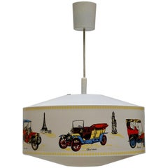 Pendant Light Decorated with Oldtimers