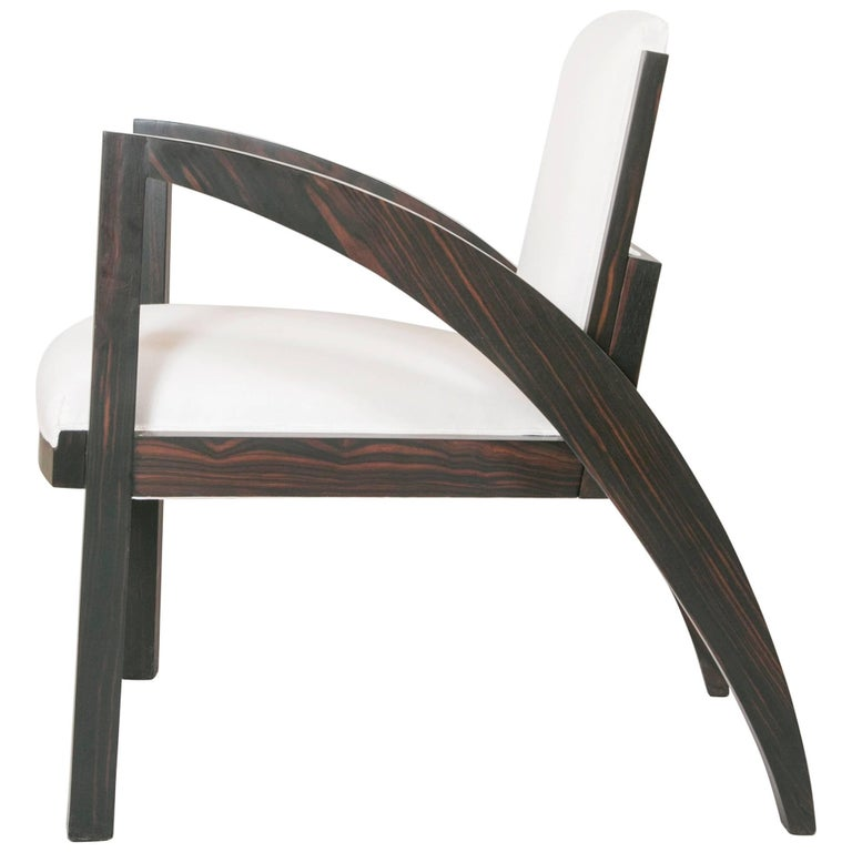 Art Deco Special Limited Edition Armchair For Sale